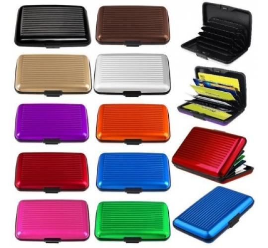 Aluminium Credit Card Wallets - Wholesale Lot - Big Savings - Choice Of Colours