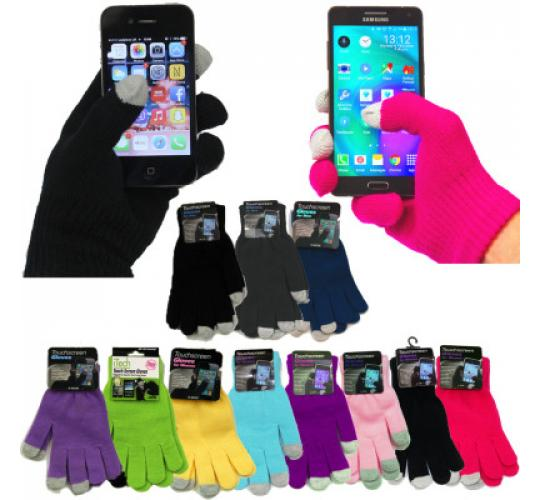 Kids Touchscreen Gloves - Choice Of Colours - One Of Wholesale Purchase - Stock Clearance - Brand New