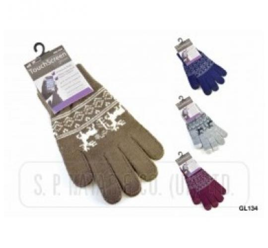 Men's Touchscreen Gloves - One Off Wholesale Lot - Choice Of Colours - New