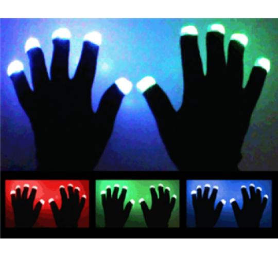 LED Gloves - Perfect for Winter - Novelty - Christmas - One Off Job Lot - NEW