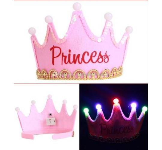 LED Princess Crown - Flashing Lights - One Off Job Lot - New