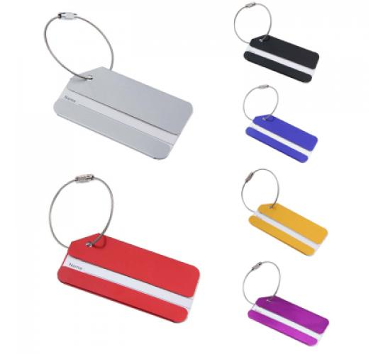Metal Luggage Tags with Triple Code Padlocks - High Quality - Wholesale Lots - Choice Of Colours - New