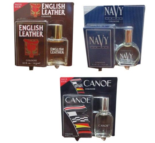 Wholesale Joblot of 50 Dana 14.5ml Men's Cologne English Leather Canoe & Navy