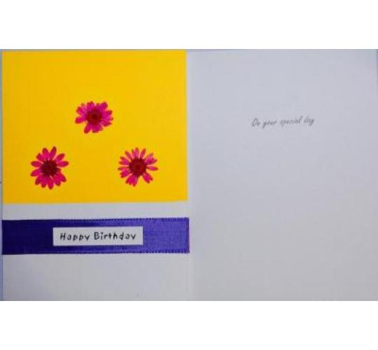 Handmade Greeting Cards - Dried Flowers - Selection Of Designs - Great Profit Potential - Wholesale Lots