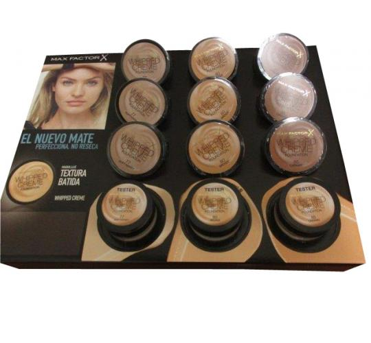 Wholesale Joblot of 24 Max Factor Whipped Creme Foundations 18ml - Display Unit