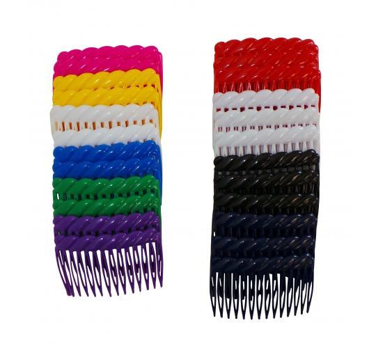 Wholesale Joblot of 120 Plastic Fashion Hair Combs Various Colours