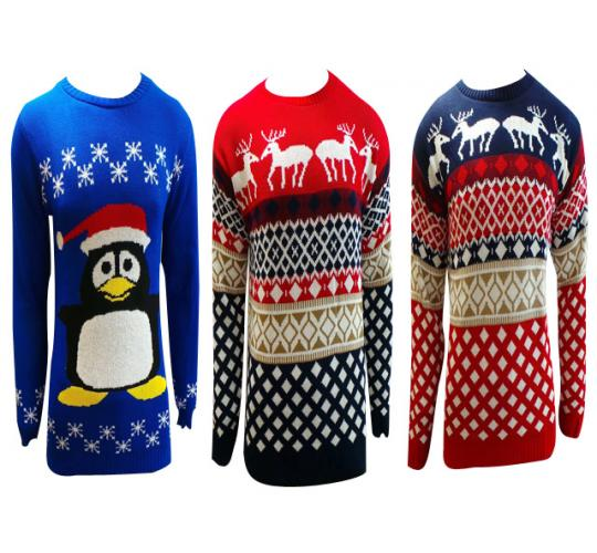 One Off Joblot of 7 Unisex Christmas Festive Jumpers 3 Styles Sizes S-L