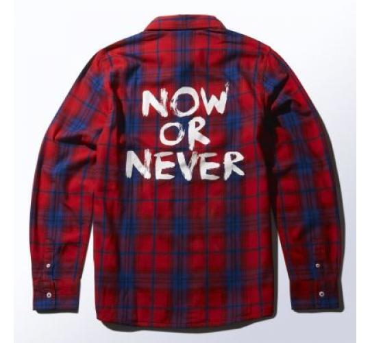 Brand New Adidas Neo Checked Shirt Scarlet/White