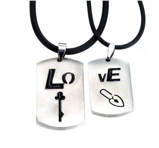 Joblot of 2 lines Dog tag double pendant set crafted from silver tone stainless steel