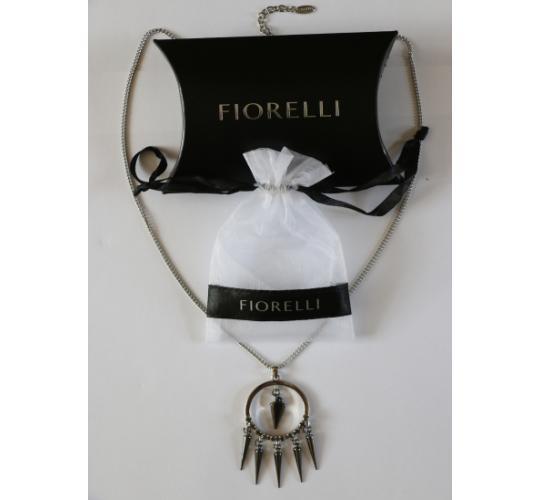 Fiorelli Crystal Spike Drop Necklace