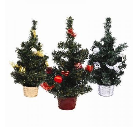 1200 x Table Top Mini Decorated Christmas Tree 30cm Gold Silver Red