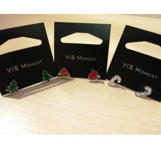 VIS Moment, 18x Fiji - Christmas Tree Santa Earrings, Red Seashell Heart Chain Charm, RRP: £234