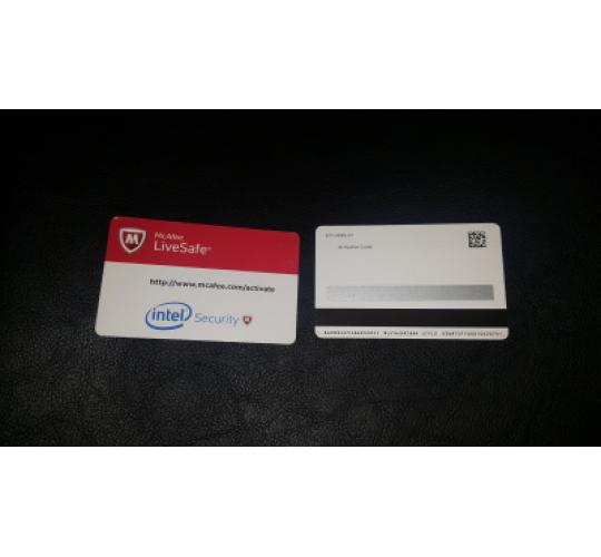 12 McAfee LiveSafe Unlimited 1year Intel security cards