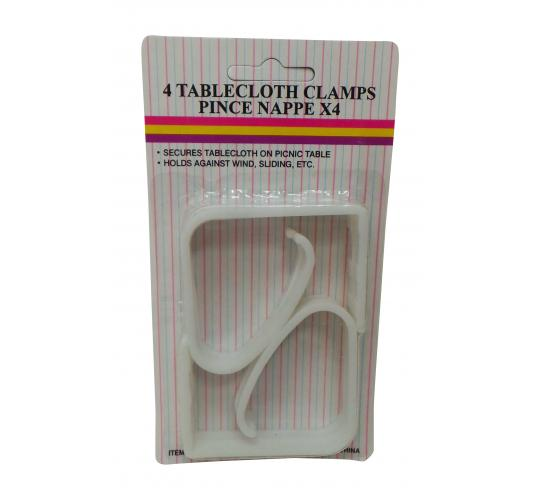 Wholesale Joblot of 72 Kleeneze White Plastic Table Cloth Clamps Packs of 4