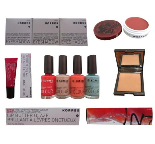 Joblot of 30 Assorted Korres Cosmetics Nail Enamel Eye Shadow Lip Butter Etc