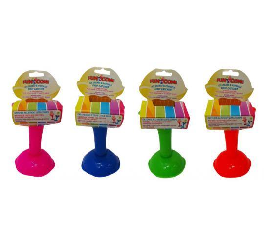 Wholesale Joblot of 72 Fun Cones Ice Cream & Popsicle Drip Catcher 4 Colours