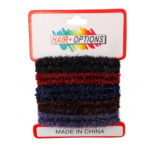 Wholesale Joblot of 120 Packs of Ladies Black Red Blue & Brown Hair Bands
