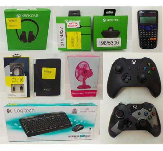 Joblot of 48 Mixed Items Xbox One Keyboard iPads Chargers & Cases Etc