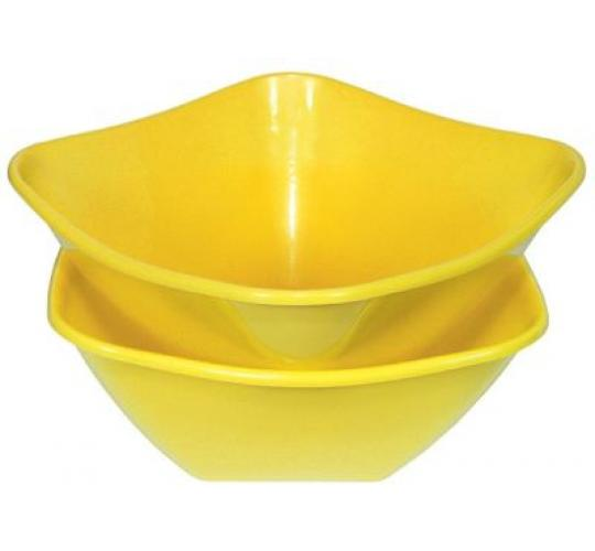 salat bowl 4 liters 26x26x13 cm plastic yellow