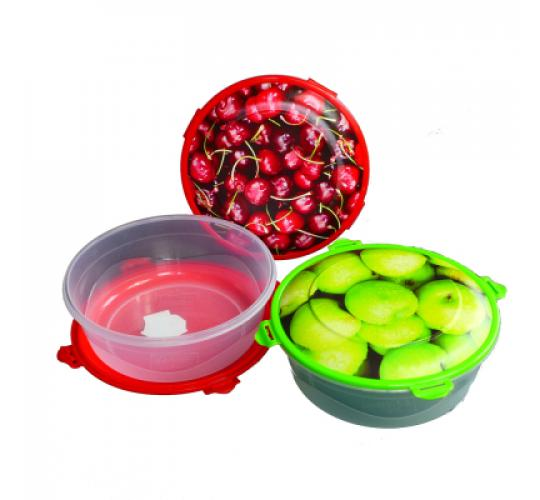 Food storage box plastic 1200 ml  Ø 180 mm