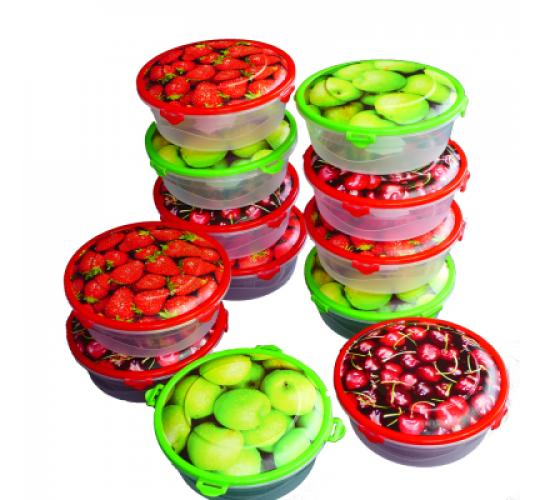 Food storage box round Ø 135 mm 500 ml  plastic