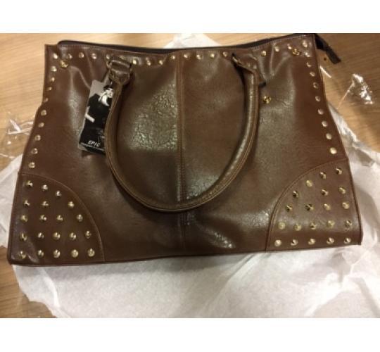 Job Lot of 30 Studded Brown Shopper Bags