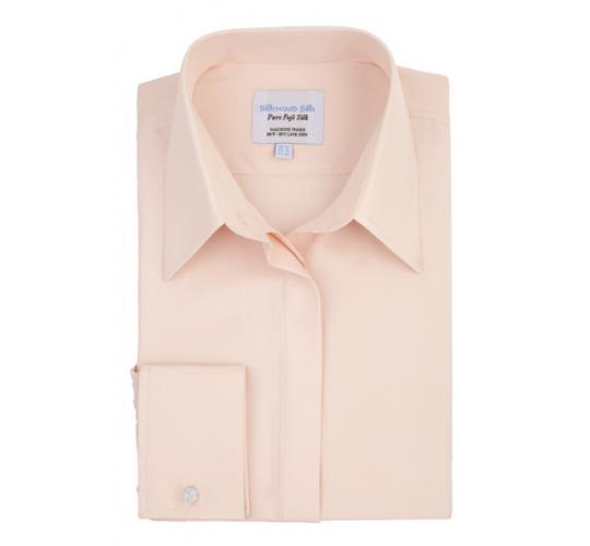 Women's Silk Shirt. Colour: Pink. UK Sizes 8 to 16