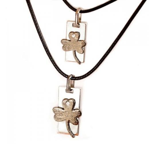 Joblot of 10 lines Assorted Metal Double Pendant Set Necklaces