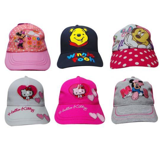 Wholesale Joblot of 100 Assorted Girls Disney & Hello Kitty Hats 9 Styles