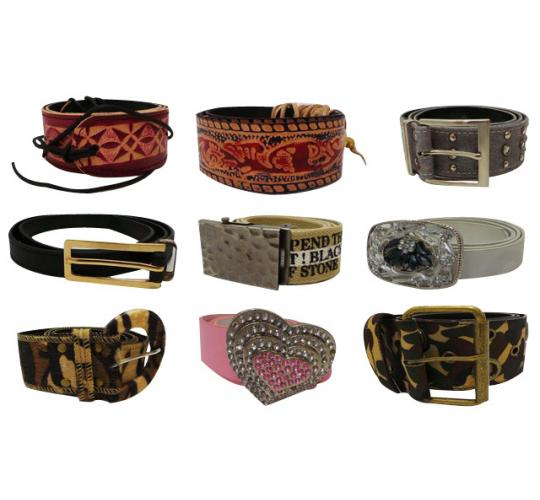 Wholesale Joblot of 100 Assorted Belts Huge Range of Styles Mostly Ladies