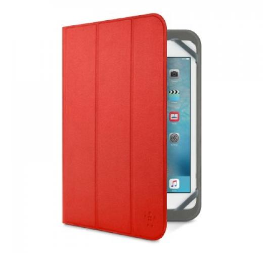 """100 X Belkin Universal TriFold Cover Case UpTo 10""""-Fits iPad 1, 2, 3, 4, Air 1 & 2, Pro 9.7 & Samsung Red - F7P356btC01"""