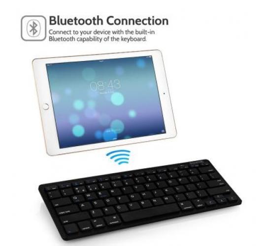 Joblot 40 x Ultra Slim Wireless Bluetooth Keyboard for All iOS, iPad Air, iPad Air 2, iPad Mini 1/2/3/4 iPad 1/2/3/4, iPad Pro, Mac, iMac All Android,