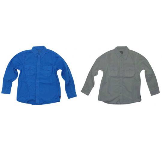 Wholesale Joblot of 10 Boys Converse Long Sleeve Shirts White & Blue