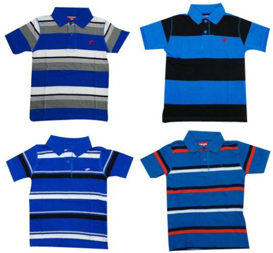 Wholesale Joblot of 10 Boys & Teens Wrangler Polo Striped Shirts