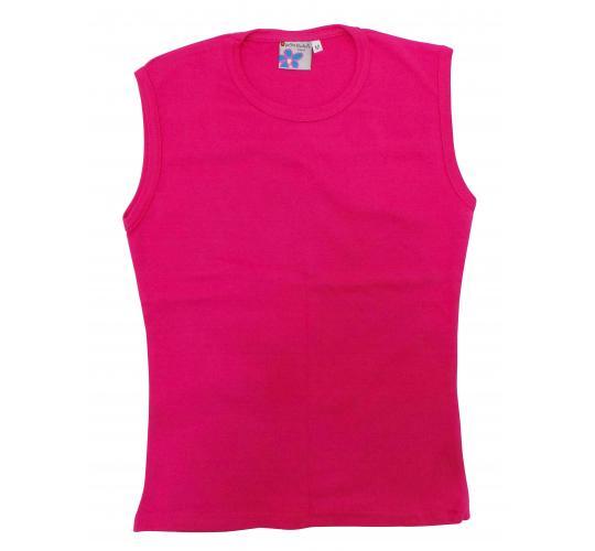 Wholesale Joblot of 10 Teenagers Plain Sleeveless Fuschia Tops Size Medium
