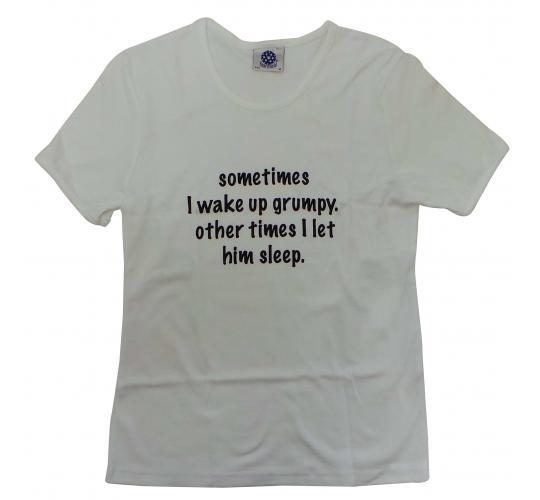 Wholesale Joblot of 10 Ladies 'Sometimes I Wake Up Grumpy...' T-Shirts Sizes S-L