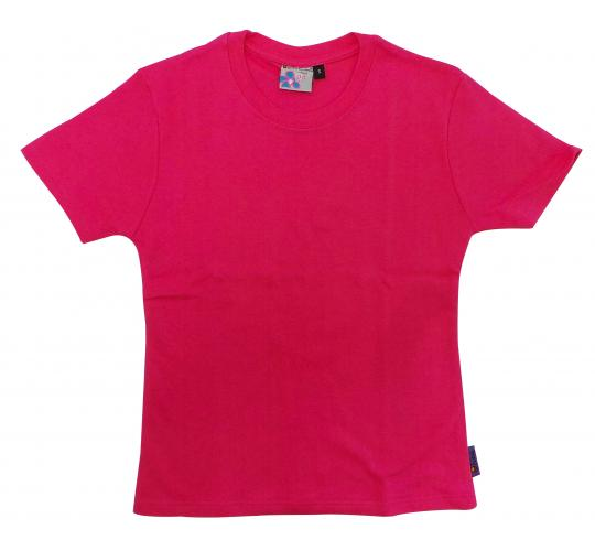 Wholesale Joblot of 10 Girls/Teenagers Plain Fuschia T-Shirts Size Small