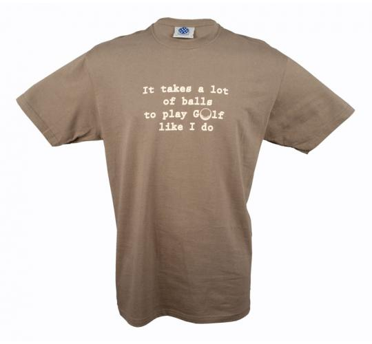 Wholesale Joblot of 10 Mens Funny Golf Novelty Slogan Khaki T-Shirts Sizes S-L