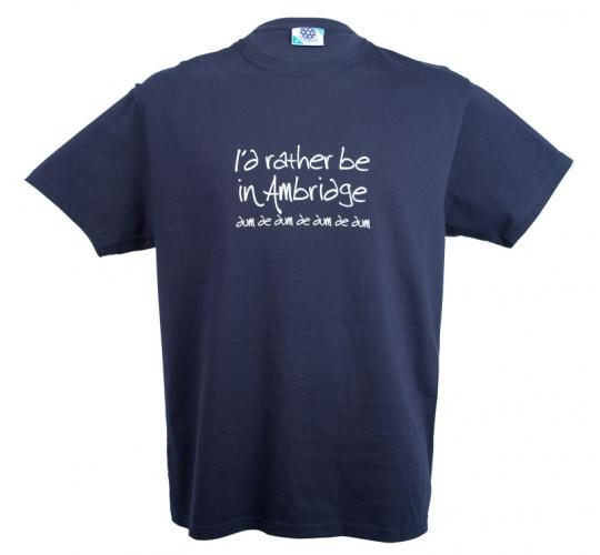 Wholesale Joblot of 10 Mens 'I'd Rather Be In Ambridge' Navy T-Shirts