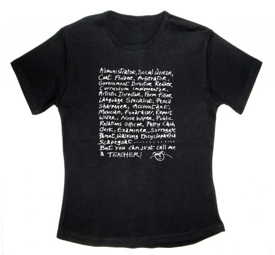 Wholesale Joblot of 10 '...Just Call Me a Teacher' Black T-Shirts