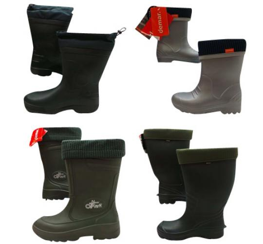 One Off Joblot of 5 Mens & Boys Demar Wellington Boots Mix of Styles & Sizes