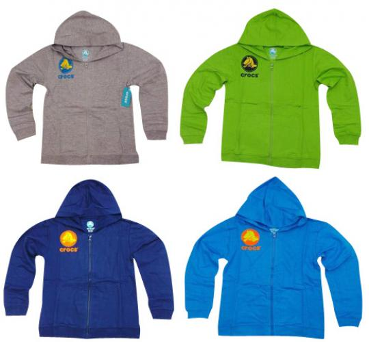 Wholesale Joblot of 10 Girls & Boys Crocs Hooded Jackets Various Colours