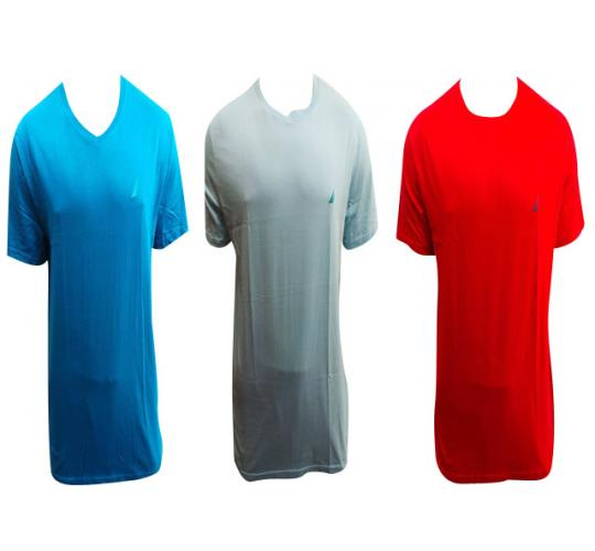 Wholesale Joblot of 10 Mens Nautica T-shirts Assorted Colours V-neck & Crew Neck