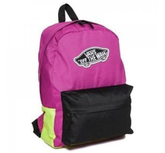 VANS Wholesale Bags - Realm Backpack - Black/Deep Orchid
