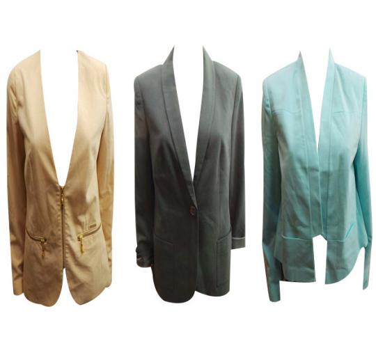 One Off Joblot of 5 Ladies Smart Styled Jackets 4 Branded Sizes 10, 12 & M