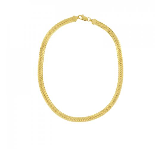 24ct Gold Plated Herringbone Chain