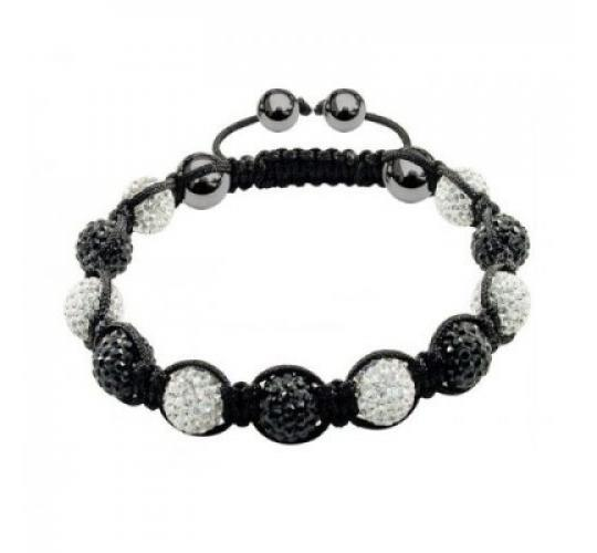 Black & white disco balls bracelet