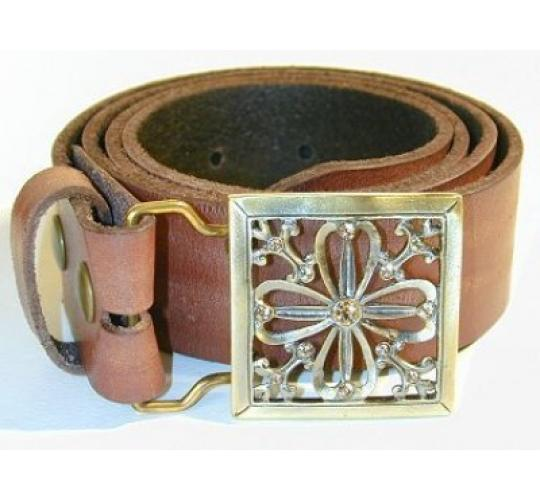 Ladies Leather Buckle Belts