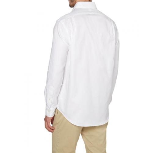 Mens White Cotton Shirt - Full Sleeve - 100% Cotton