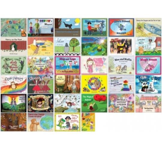 500 Childrens Full Colour Illustrated Books